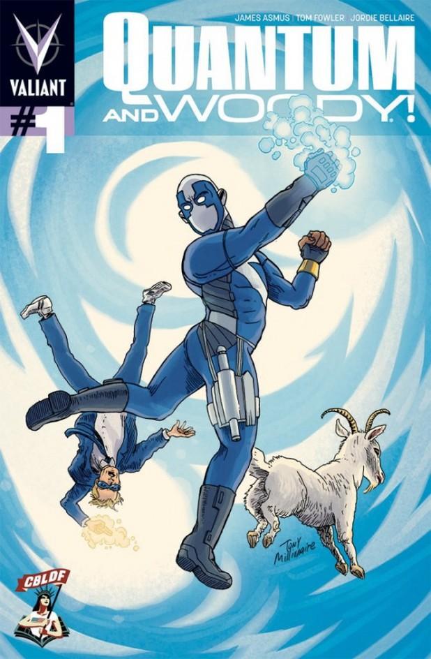 'Quantum & Woody' #1 Tony Millionaire CBLDF variant
