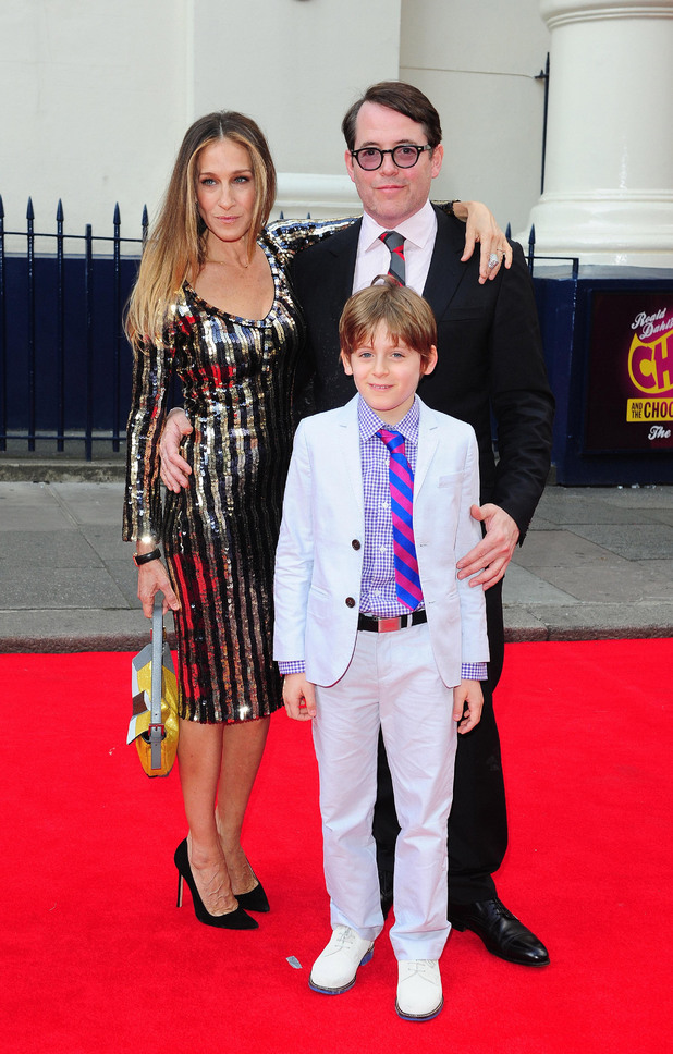 Sarah Jessica Parker, Matthew Broderick and their son James Broderick