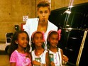 The 'Boyfriend' singer posed for a photograph with the rapper's three daughters.