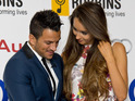 The singer is seen with his hand on Emily MacDonagh's stomach in new pictures.