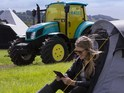 Eco-friendly New Holland tractor belongs to Glastonbury founder Michael Eavis.