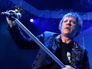 Bruce Dickinson of Iron Maiden at Comfort Dental Amphitheatre, Colorado ~~ August 13, 2012