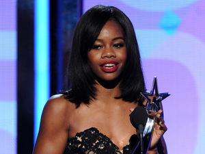Gabby Douglas at the BET Awards 2013