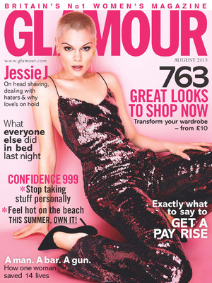 Jessie J poses on the cover of 'Glamour' magazine