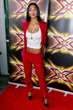 Nicole Scherzinger, birthday, The X Factor' TV show auditions, Cardiff, Wales, Britain