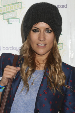 Caroline Flack backstage at Barclaycard Presents British Summer Time Hyde Park in central London.