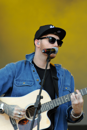 James Arthur performs at Alton Towers live.