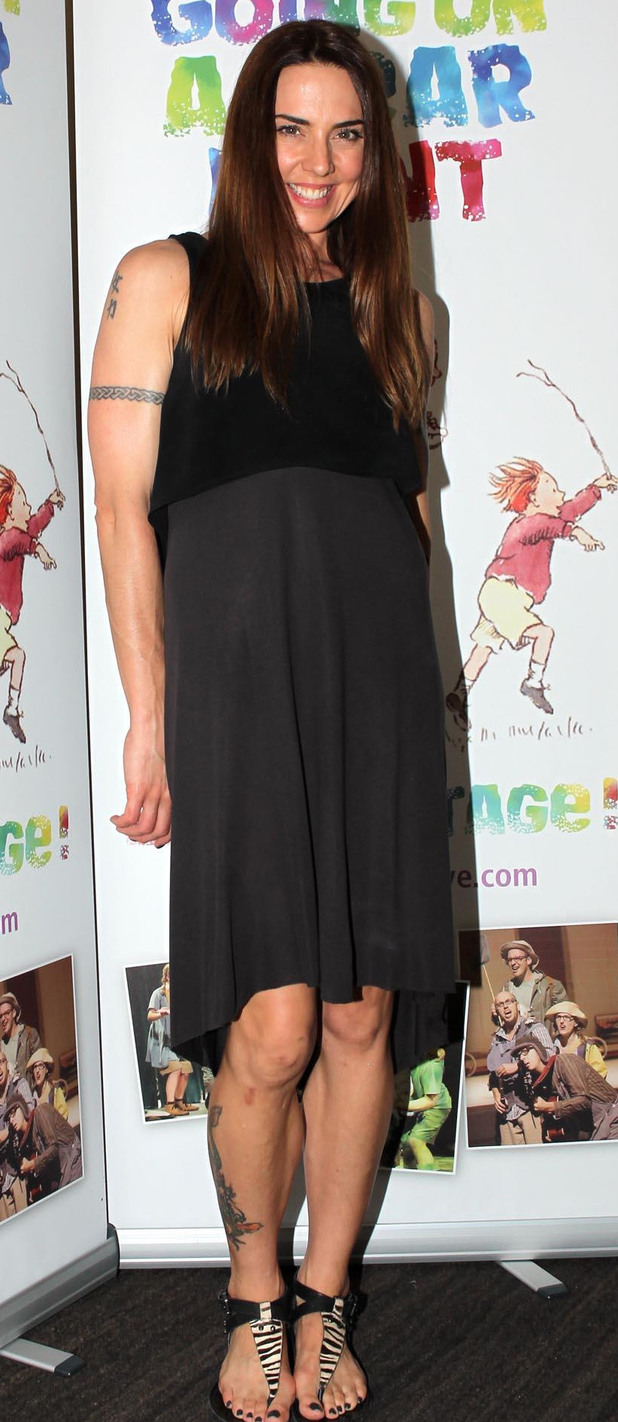 Melanie Chisholm attending a special performance show of We're Going On A Bear Hunt at the Lyric Theatre.