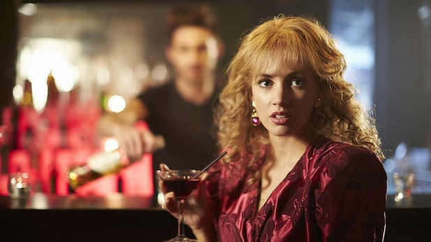 Samantha Jade as Kylie Minogue in the Seven Network's INXS biopic 'Never Tear Us Apart'
