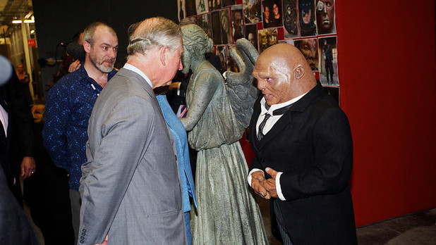 Prince Charles meets Strax