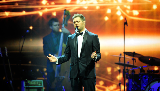 Michael Buble performs at 02 Arena in London