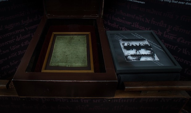 Jay-Z displays new album by Magna Carta.