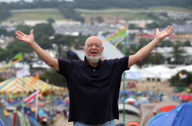 Michael Eavis on the last day of the Glastonbury Festival ~~ June 30, 2013
