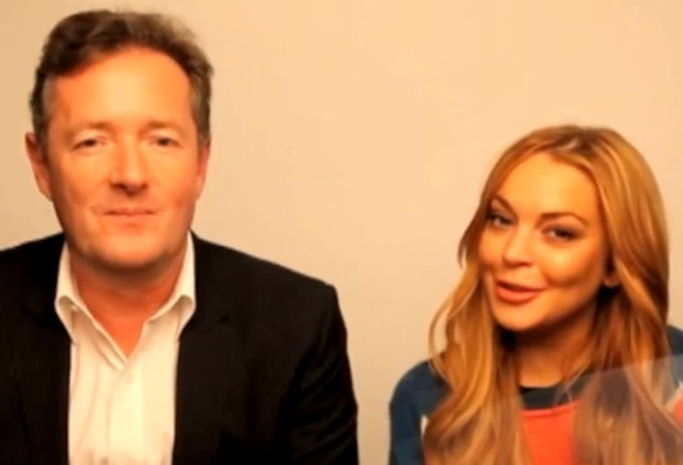 Lindsay Lohan and Piers Morgan
