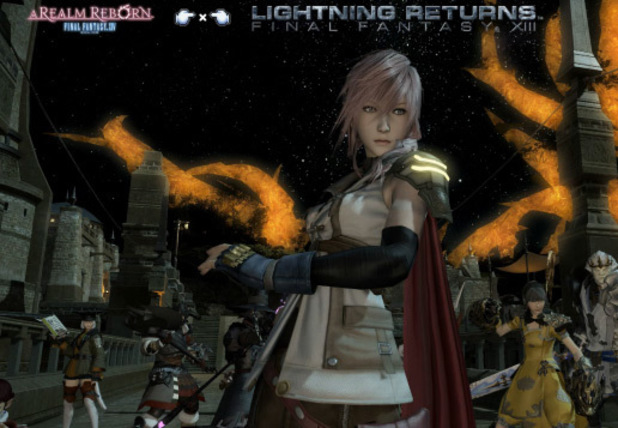 Leaked Final Fantasy XIV/Lightning Returns crossover screenshot