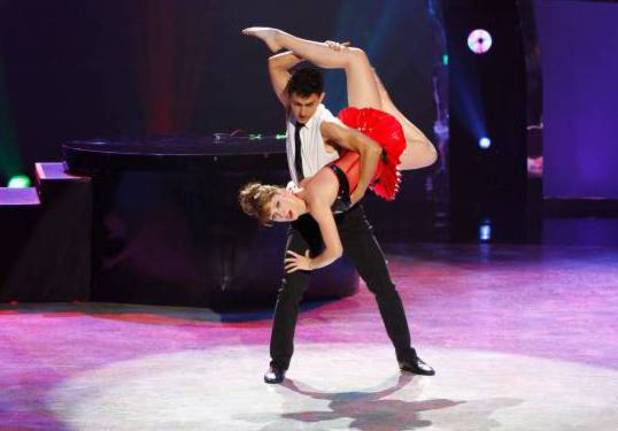 "Makenzie Dustman and Paul Karmiryan perform a Jazz routine to ""Mannequin"""