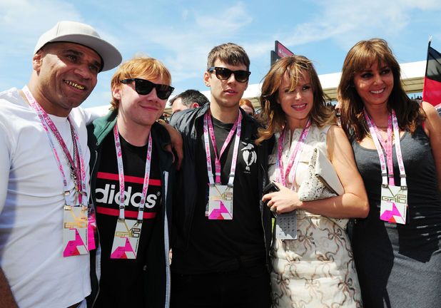 Celebrities at the 2013 British Grand Prix