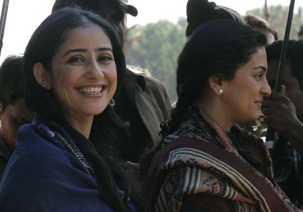 Manisha Koirala (left) with Juhi Chawla