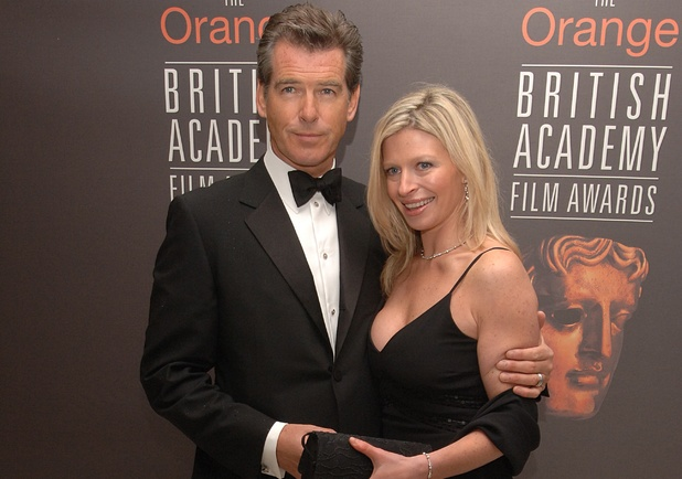 Pierce Brosnan with stepdaughter Charlotte