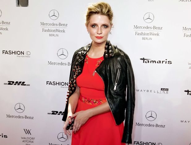Mischa Barton at the Mercedes Benz Fashion Week in Berlin.