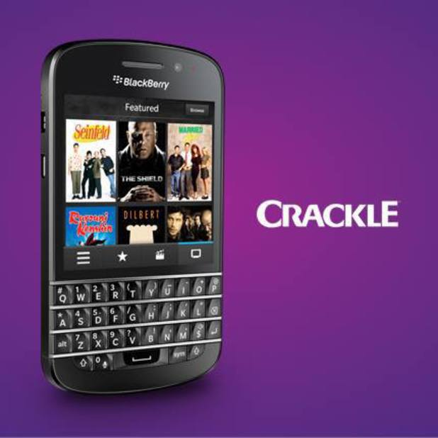 Crackle app running on BB10