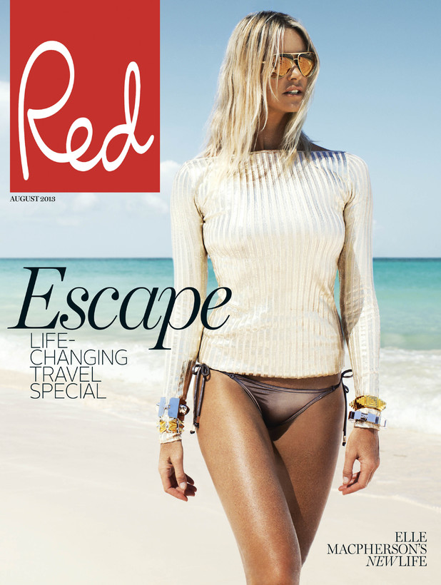 Elle Macpherson's Red magazine cover