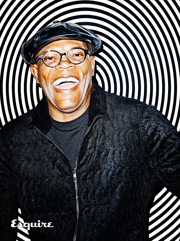 Samuel L Jackson photo shoot for Esquire magazine