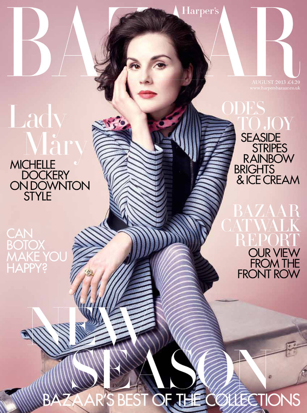 Michelle Dockery, Harper's Bazaar, cover, LIMITED RIGHTS