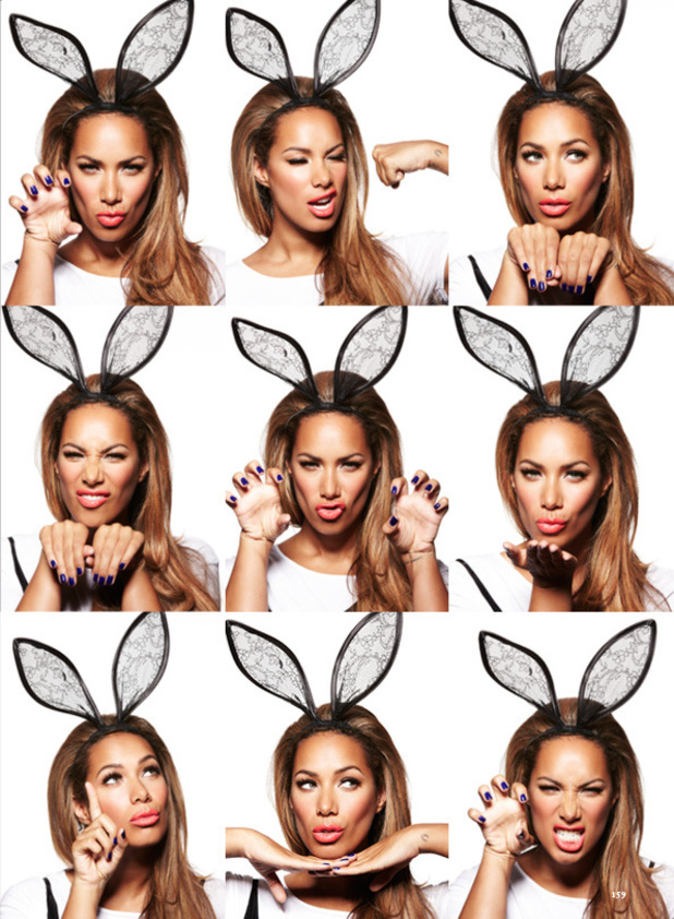 Leona Lewis poses as a bunny for 'Cosmopolitan'