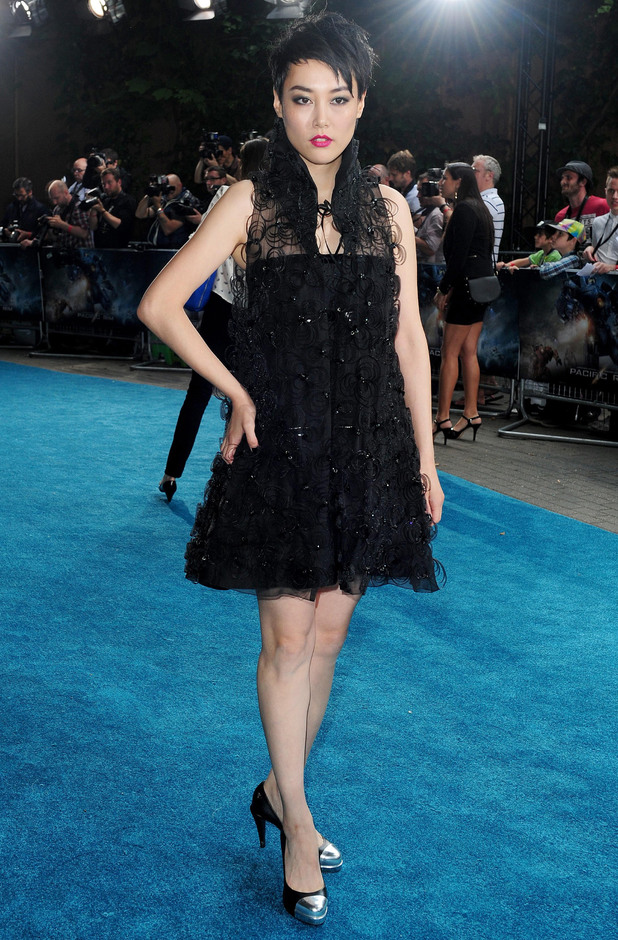 Rinko Kikuchi arriving for the European premiere of Pacific Rim at BFI IMAX
