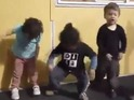 A group of 3-year-olds demonstrate the New Zealand intimidation war cry.
