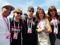 Rupert Grint, Geri Halliwell, Amanda Holden lead famous faces at Sunday's F1 race.