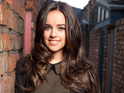Georgia May Foote will remain on the ITV soap until at least early 2015.