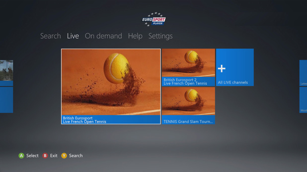 Eurosport app launches on Xbox 360