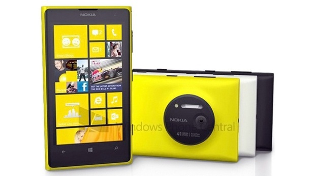 Leaked press shot of the Nokia Lumia 1020