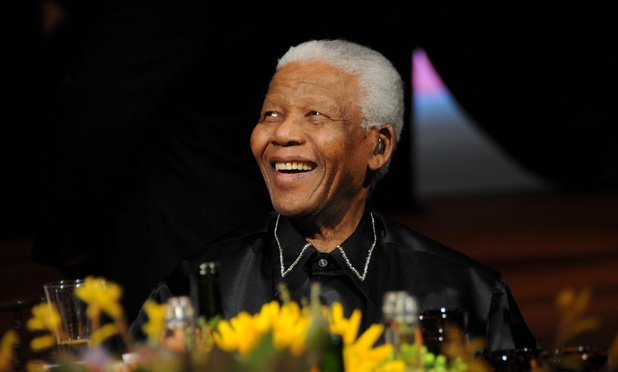 Nelson Mandela at his 90th birthday dinner in London, 2008