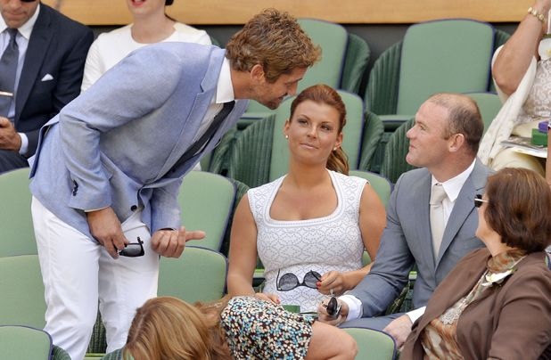 Gerard Butler, Coleen Rooney, Wayne Rooney, Wimbledon Tennis Championships, Men's Singles Final, London, Britain