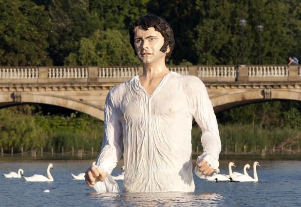 Mr Darcy emerges from The Serpentine
