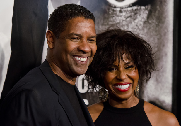 Denzel Washington and wife Pauletta Pearson
