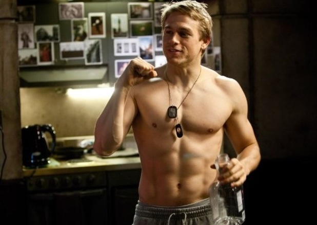 Charlie Hunnam shirtless in Pacific Rim