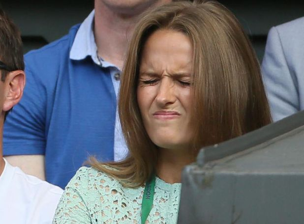 Kim Sears during the Wimbledon final