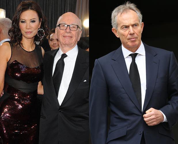 Tony Blair, Rupert Murdoch, Wendi Deng