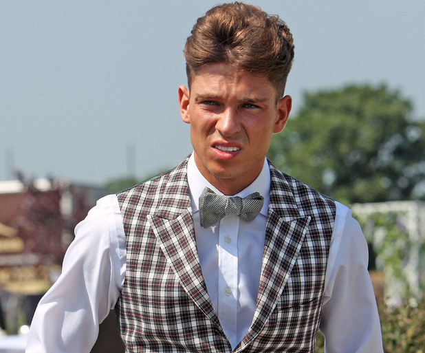 Joey Essex attends Carol and Mark Wright's wedding vow renewal