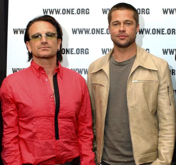 Bono and Brad Pitt