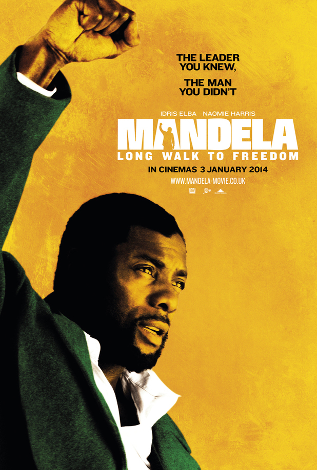 Idris Elba as Nelson Mandela in 'Long Walk to Freedom' poster