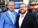 The comedian writes about his first encounter with Pegg in his new memoir.