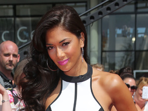 Nicole Scherzinger, X Factor auditions, London, Wembley Arena, monochrome dress, Finders Keepers dress,