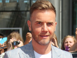 Gary Barlow arriving at The X Factor 2013 auditions at Wembley Stadium