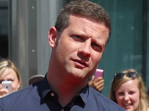 Dermot O'Leary arriving at The X Factor 2013 auditions at Wembley Stadium