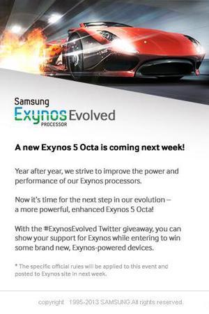 Samsung Exynos 5 Octa teaser